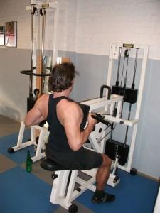 Rowing machine pour épaissir le dos